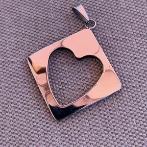 Stainless heart pendant